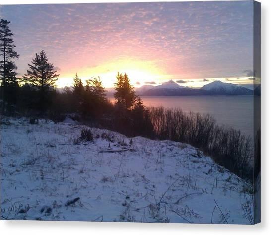 Winter Morn Canvas Print by Susan Mumma
