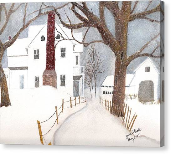 Winter Morning At The Big White House Canvas Print