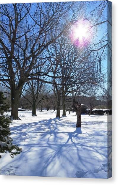 Winter Morning Boston Back Bay  Canvas Print