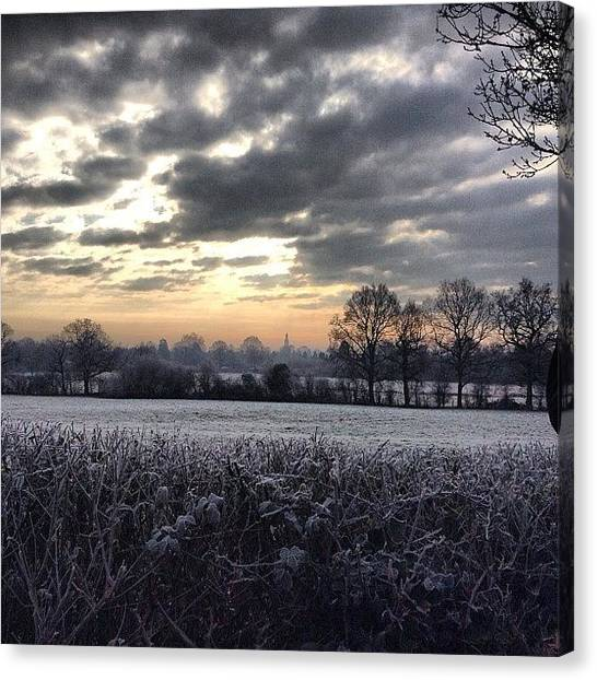 Sunrises Canvas Print - Winter Morning In Kent by Nic Squirrell