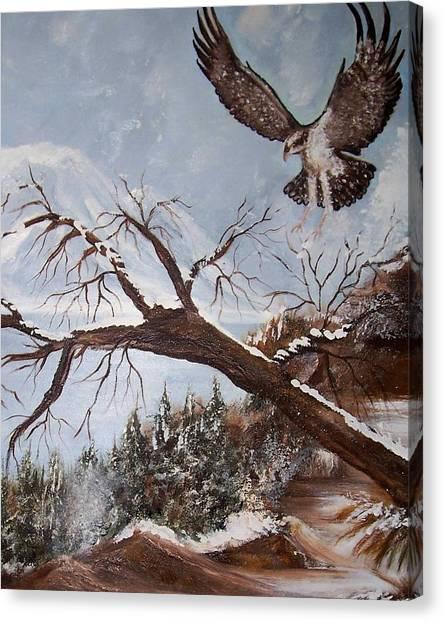 Winter Nesting Canvas Print by Martha Mullins