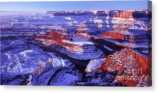 Winter Of Dead Horse Point Canvas Print