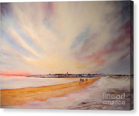 Winter On St Andrews Scotland Canvas Print