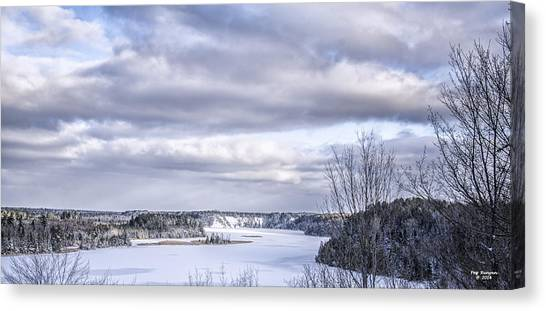 Canvas Print - Winter On The Ausable River by Peg Runyan
