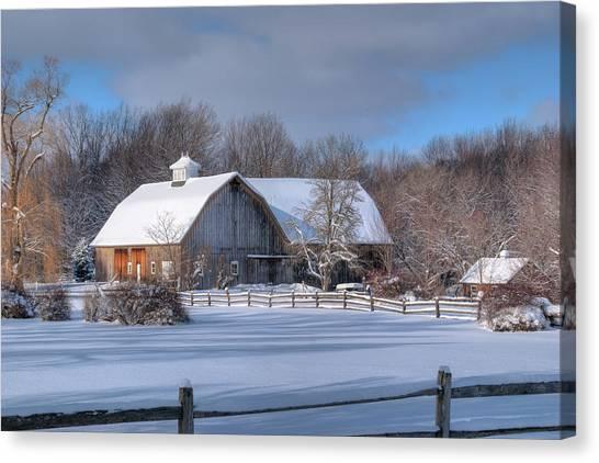 Winter On The Farm 14586 Canvas Print