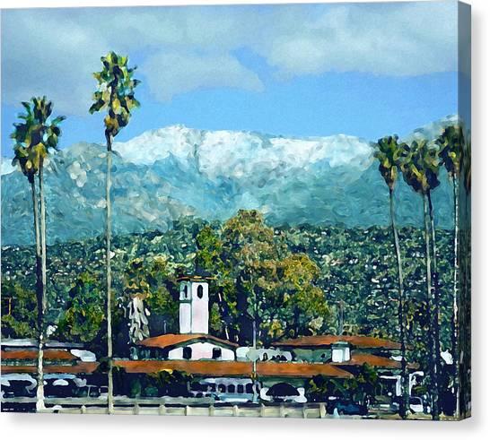 Winter Paradise Santa Barbara Canvas Print