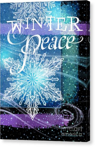 Winter Peace Greeting Canvas Print