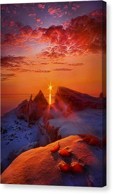 Ice Caves Canvas Print - Winter Peaks by Phil Koch