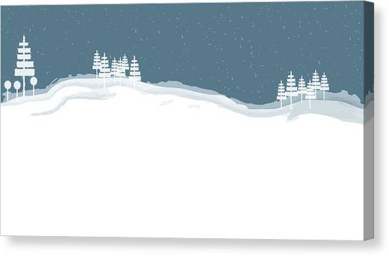 Winter Pines Canvas Print