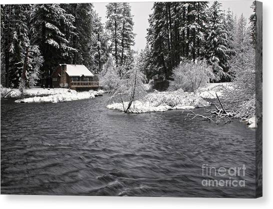 Winter Postcard Canvas Print