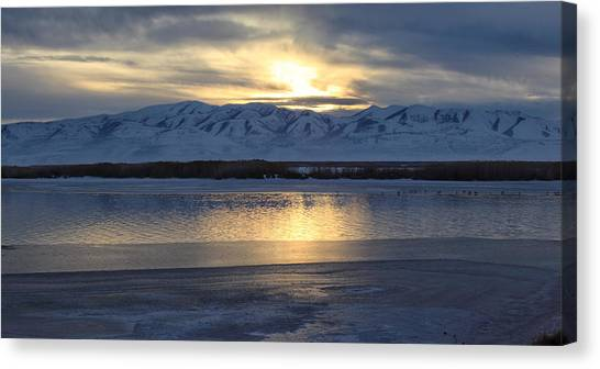 Winter Reflection Canvas Print by Darryl Wilkinson