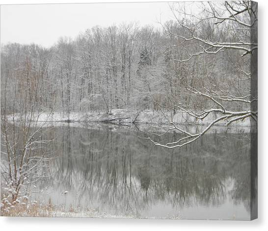 Winter Reflections 2 Canvas Print