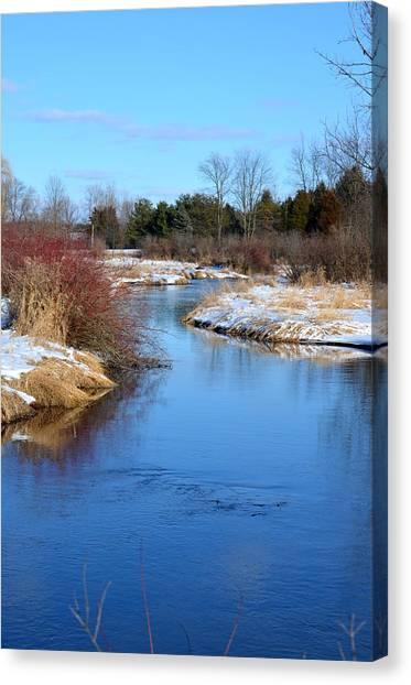 Winter River2 Canvas Print by Jennifer  King