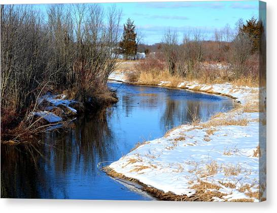Winter River5 Canvas Print by Jennifer  King