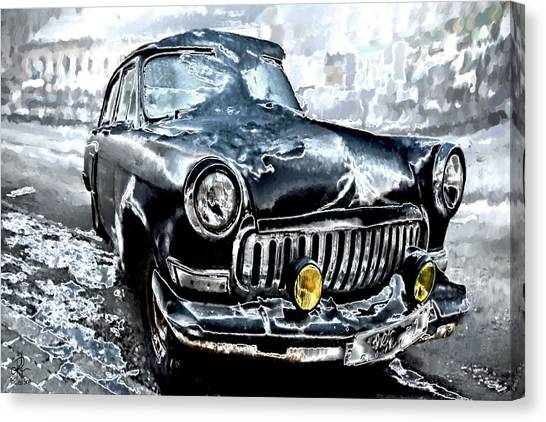 Winter Road Warrior Canvas Print