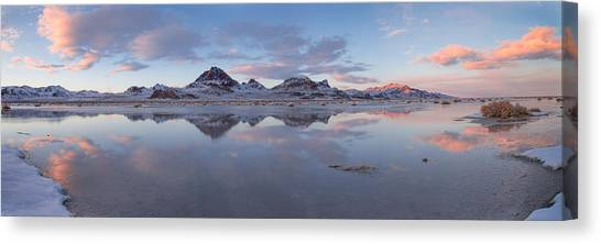 Salt Canvas Print - Winter Salt Flats by Chad Dutson