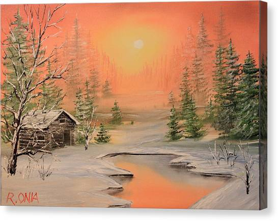 Winter Scene 2 Canvas Print