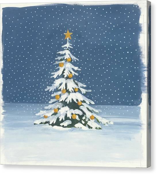 Christmas Tree Canvas Print - Winter Scene Iv by Wild Apple Portfolio