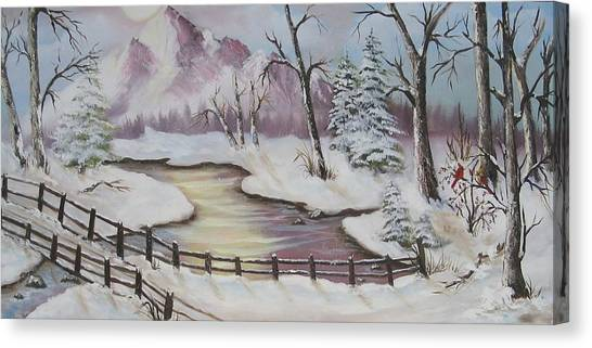 Winter Scene Canvas Print by Joni McPherson