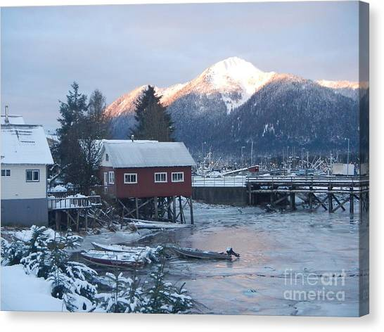 Winter Scenery Canvas Print