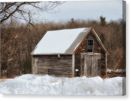 Winter Shack Canvas Print