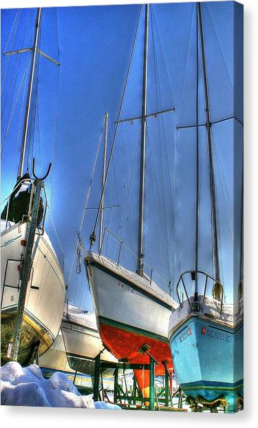 Winter Shipyard Canvas Print