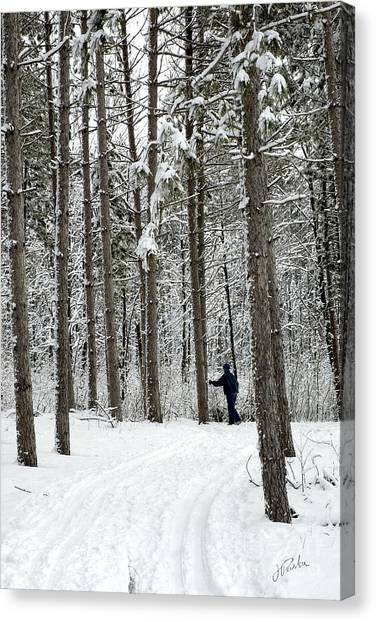 Winter Ski Canvas Print