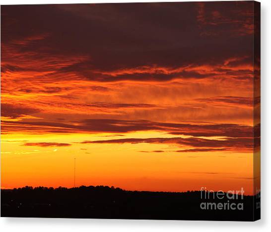 Winter Sky Canvas Print by Paul Anderson