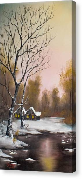 Bob Ross Canvas Print - Winter Solace by Chris Steele
