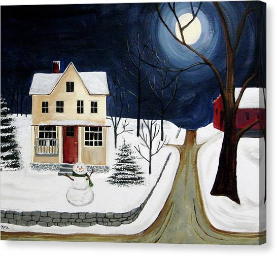 Winter Solo Canvas Print by Kori Vincent