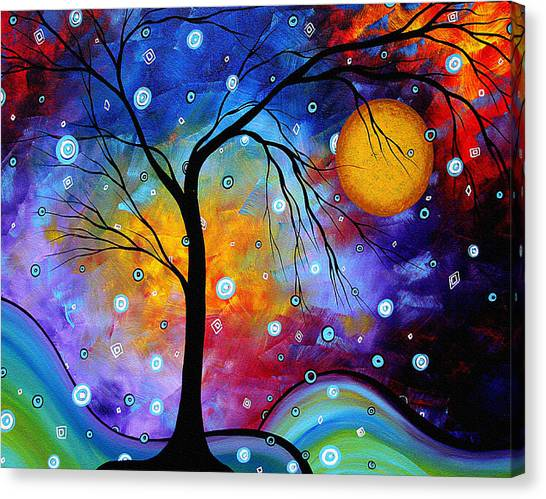 Canvas Print - Winter Sparkle Original Madart Painting by Megan Duncanson