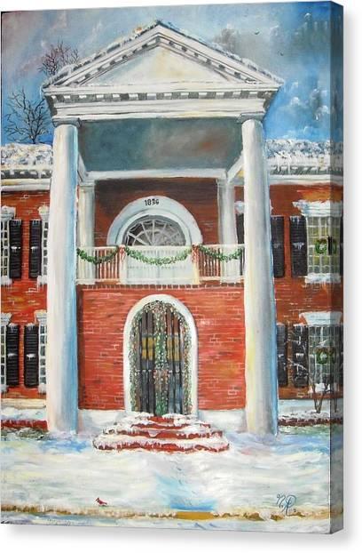 Winter Spirit In Dahlonega Canvas Print