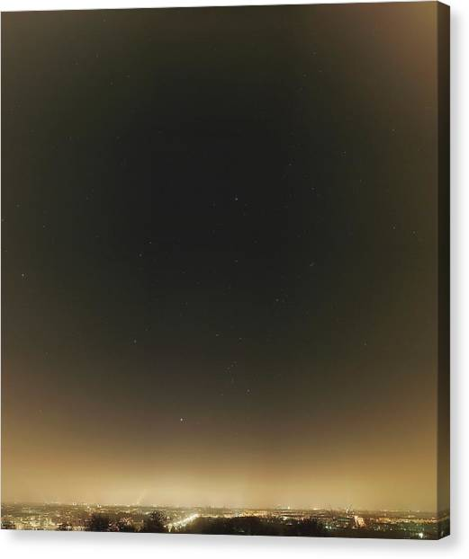 Pollution Canvas Print - Winter Stars And Light Pollution by Eckhard Slawik