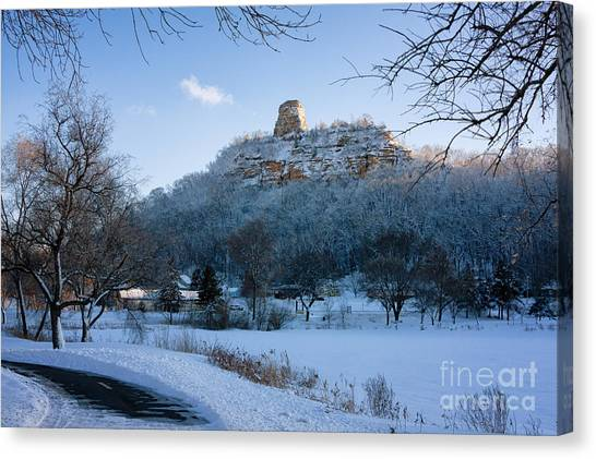 Canvas Print featuring the photograph Winter Sugarloaf At East Lake by Kari Yearous