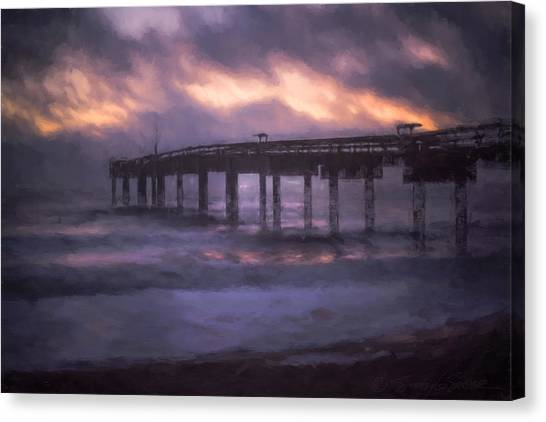 Winter Sunrise St. Augustine Beach Canvas Print