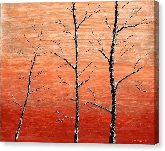 Winter Sunset Canvas Print by Dan Haley
