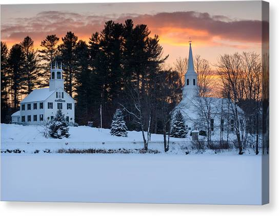 Marlow Canvas Print - Winter Sunset by Michael Blanchette