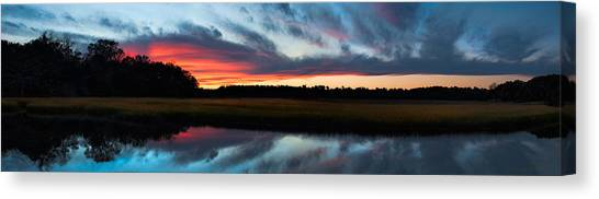 Winter Sunset Over Moultrie Creek Canvas Print