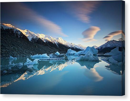 Winter Symmetry Canvas Print by Yan Zhang