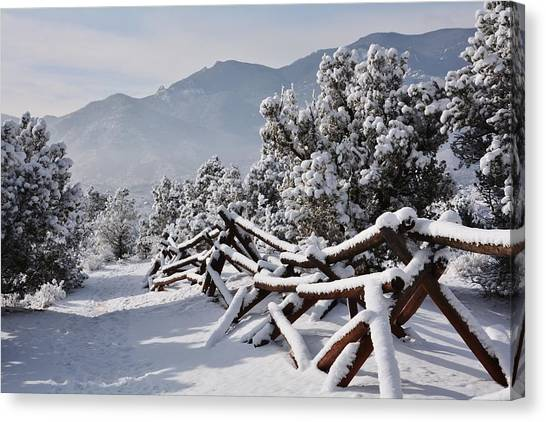 Winter Trail Beckons Canvas Print