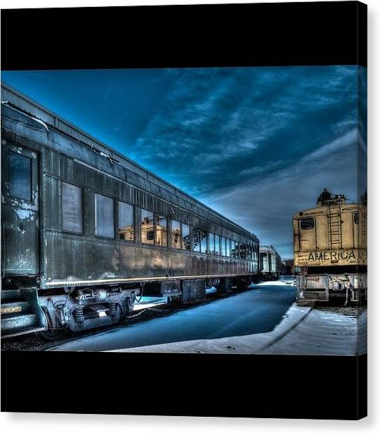 Trainspotting Canvas Print - Winter Train by David Ferguson