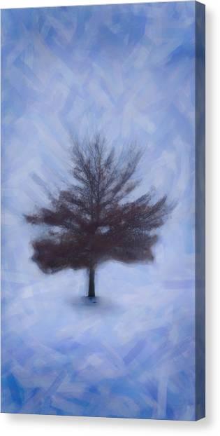 Winter Tree Canvas Print by Emmanouil Klimis