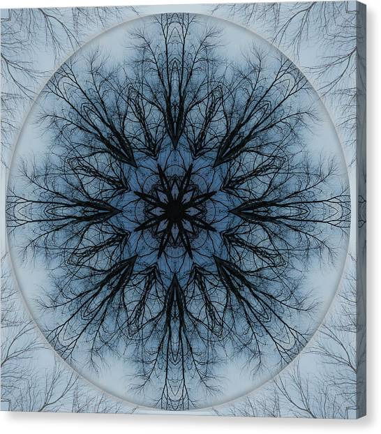 Winter Tree Mandala 2 Canvas Print