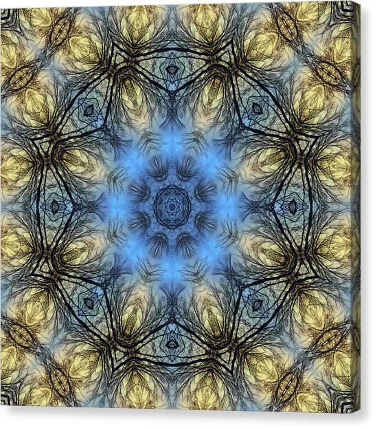 Winter Tree Mandala Canvas Print