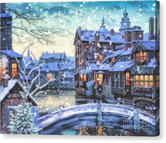 Mo Canvas Print - Winter Twilight by Mo T