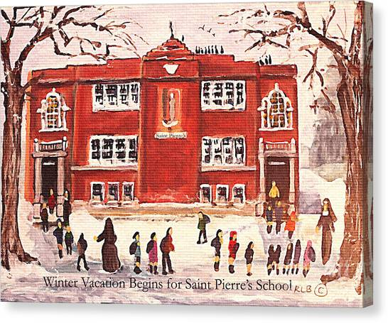 Winter Vacation Begins For Saint Pierre's School Canvas Print