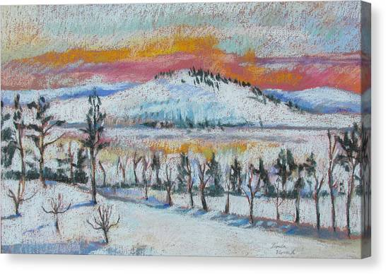 Winter View From Kripalu Canvas Print