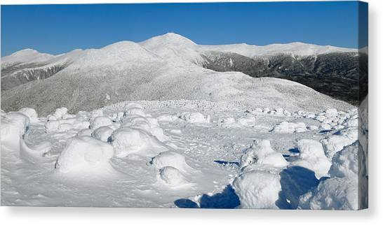 Winter View From Mount Pierce Canvas Print