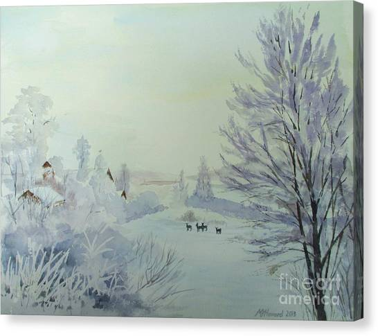 Winter Visitors Canvas Print