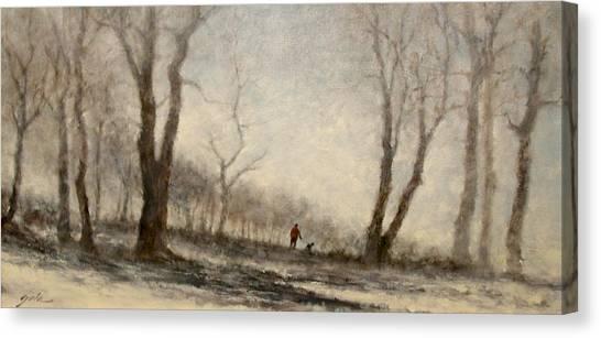Canvas Print - Winter Walk by Jim Gola